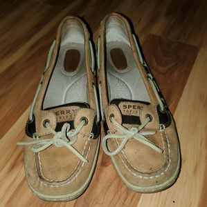 cheetah Sperry boat shoes